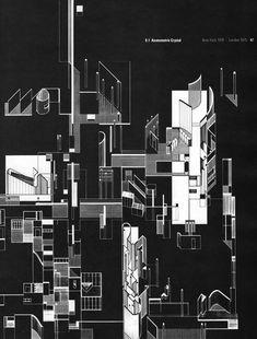 Daniel Libeskind. Axonometric Crystal New York 1970 - London 1975