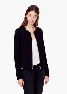 Textured jacket - Jackets for Women   MANGO USA