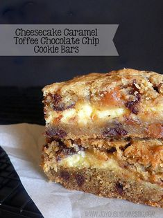 Joyously Domestic: Cheesecake Caramel Toffee Chocolate Chip Cookie Bars Looks yummy! Chocolate Chip Cookie Bars, Chocolate Toffee, Chocolate Chips, Almond Toffee, German Chocolate, Baking Recipes, Cookie Recipes, Dessert Recipes, Bar Recipes
