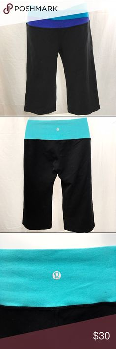 lululemon YOGA Capris - Size 8 These yoga capris are in good condition. They have been gently worn. They have a hidden pocket on the inside waistband. lululemon athletica Pants Track Pants & Joggers