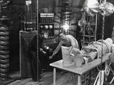 Colin Clive and Dwight Frye in Frankenstein 1931