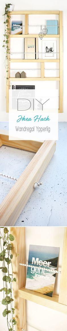 Dani von DIY Blog Gingered Things zeigt euch mit einem Hack wie ihr ganz einfach das Wandregal aus der Ypperlig Kollektion von Ikea aus Holz und einem Gummiseil selbst bauen könnt.