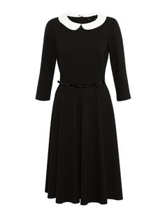 M Collection Detachable Peter Pan Collar Skater Dress with Belt - Marks & Spencer