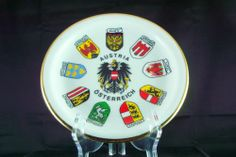 SOLD!  We have more decorative collectibles available.  Click on the picture to see more.  Austria Porcelain Collector Plate City Region Flags Winterling Bavaria Austrian