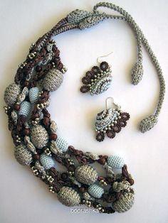 132 Fantastiche Immagini Su Collane Alluncinetto Crochet Necklace