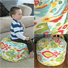 Young Nesters: DIY floor pouf (Land of Nod inspired)