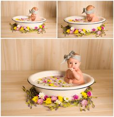 Charlie // 7 months // milk bath session // liberty Missouri baby photographer