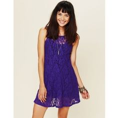 Free People Miles of Lace Dress Great condition, black slip underneath, you can definitely dress this up!  Free People Dresses