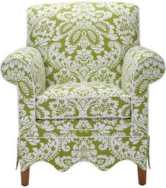 Ethan Allen Jules Chair - really like the bottom lines of this chair