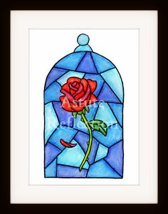 Rose inside Glass Disney Beauty and the Beast by AstuteReflection