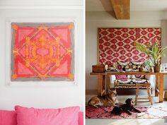DIY home framed scarves2