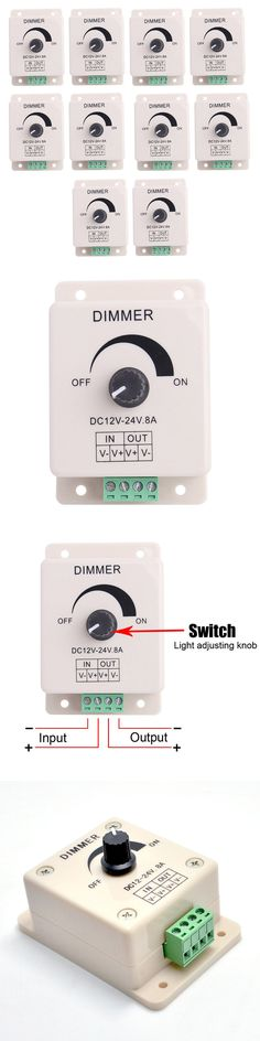 Lighting Parts and Accessories 20705: 10Pcs Manual Dimmer Switch For Led Strip Light, 12V 8A Mountable With Terminals -> BUY IT NOW ONLY: $35.99 on eBay!