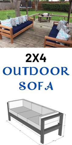 Build your own outdoor sofa with just 11 Ana White plans include step by step diagrams and shopping and cut list. We also have a plans to convert this sofa to an outdoor sectional, a matching outdoor coffee table plan, and outdoor wood finishing secrets. Diy Sofa, Couch Sofa, Sofa Pillows, Diy Wood Projects, Outdoor Projects, Easy Woodworking Projects, Woodworking Furniture, Garden Projects, Beginner Wood Projects