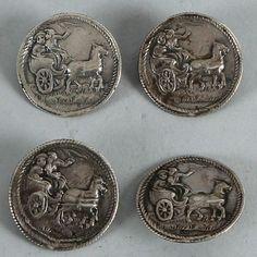 ButtonArtMuseum.com - Four Dutch silver buttons