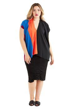 ZERO + MARIA CORNEJO Seamed Lena Top Size-inclusive designer luxury Plus-size fashion