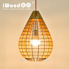 2016 nuevo diseño moderno DIY de madera de estilo forma de gota de agua pequeño luces pendientes suspensión lámparas de la decoración del hogar en Luces Colgantes de Iluminación en AliExpress.com   Alibaba Group