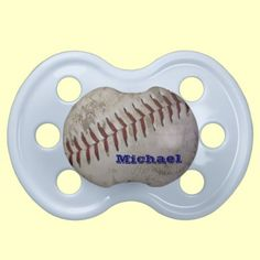 Personalized Baby Boy Future Baseball Player Pacifier