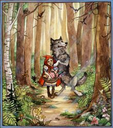 Little Red Riding Hood. Illustrated by Trina Schart Hyman. Exhibitions - Past Exhibitions - The Eric Carle Museum of Picture Book Art