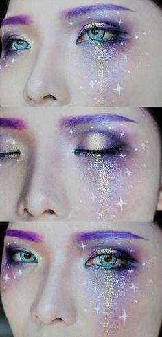 augenbrauen lila galaxy augen make up augenbrauen lila galaxy augen make up Related posts: Make-up Gold Eyeliner natürlichen Make-up Look Party Make-up whereetoget.it fasching schminke glitzer augen make up gold sternchen Fx Makeup, Cosplay Makeup, Costume Makeup, Makeup Inspo, Makeup Inspiration, Makeup Ideas, Star Makeup, Makeup Brush, Rave Eye Makeup