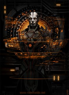 "Game Master (Animated) - by Rob Shields""2013 image created for Interface Zero 2.0: Full Metal Cyberpunk animated for fun."""