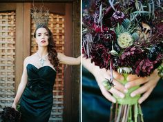 Maleficent inspired florals by The Petal Company