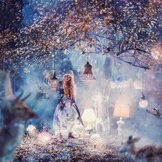 Russian Photographer Kristina Makeeva Captures Women In Dresses Set Against Magical Landscapes Creative Fashion Photography, Dreamy Photography, Fantasy Photography, Girly Pictures, Beautiful Pictures, Foto Fantasy, Color Fantasia, Lovely Girl Image, Princess Pictures