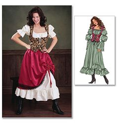 Cosplay sewing patterns and historical costume sewing patterns. Make bodysuits, corsets, capes, gowns, tunics and more for cosplay costumes. Cosplay events listing and cosplay tutorials. Wench Costume, Costume Dress, Gypsy Costume, Girl Costumes, Costumes For Women, Cosplay Costumes, Halloween Costumes, Costume Renaissance, Renaissance Fair