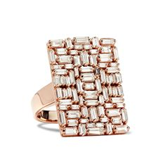Suzanne Kalan rose gold and diamond geometric ring
