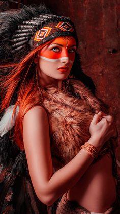 American Indian Girl, Native American Girls, Native American Pictures, Native American Beauty, Indian Pictures, Indian Girls, Native American Face Paint, Native American Artwork, Barbarian Woman