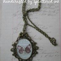 vintage style butterfly necklace