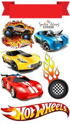 Bolo Hot Wheels, Hot Wheels Cake, Hot Wheels Party, Hot Wheels Birthday, Boy Birthday, Star Tree Topper, Anniversaire Hotwheels, Imprimibles Hot Wheels, Imprimibles Paw Patrol