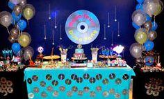 Resultado de imagen para decoração de festa disco