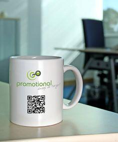 QR code on a mug Free Qr Code, Travel Mugs, Drinkware, Animal Rescue, Coasters, Promotion, Smartphone, Ceramics, Graphic Design