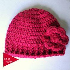 Bit of Color: Hoe haak je een passende muts! Crochet Cap, Crochet Girls, Crochet Baby Clothes, Crochet Baby Hats, Crochet Beanie, Crochet For Kids, Diy Crochet, Crochet Stitches, Knitted Hats