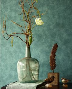 Afbeeldingsresultaat voor live in behangpapier verona Wallpaper Collection, Faux Walls, Colour Architecture, How To Hang Wallpaper, Photo Mural, Green Home Decor, Deco Floral, Modern Vintage Homes, Wall Design