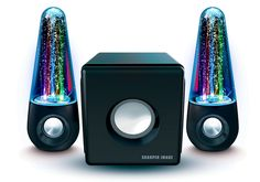 Speakers with dancing water to blast your morning mix from.