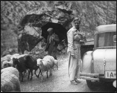 Marianne Breslauer, Untitled (Annemarie Schwarzenbach in her car and a shepherd man), Pyrenees, 1933 Schweizerische Nationalbibliothek NB, Bern