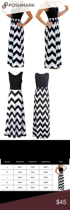 🔥JUST IN🔥Zigzag Maxi Dress Arriving next Monday, will lower price when available. see size chart Dresses Maxi