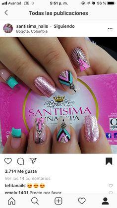 Gorgeous Nails, Pretty Nails, Elegant Nails, Nail Decorations, Nails On Fleek, Pink Nails, Pedicure, Health And Beauty, Nail Designs