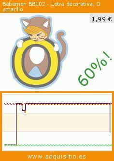 Bebemon BB102 - Letra decorativa, O amarillo (Producto para bebé). Baja 60%! Precio actual 1,99 €, el precio anterior fue de 4,95 €. https://www.adquisitio.es/bebemon/bb102-letra-decorativa-o