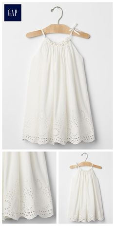 Eyelet border dress