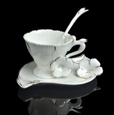Tea Time Unique Graceful Frangipani Flower Coffee Set Tea Cup Saucer Spoon | eBay (scheduled via http://www.tailwindapp.com?utm_source=pinterest&utm_medium=twpin&utm_content=post25892006&utm_campaign=scheduler_attribution)