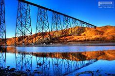 High Level Bridge, Lethbridge, AB Text Photo, I Am Canadian, Idaho Falls, High Level, Travel Pictures, Bridges, Habitats, Wander, Photo Art