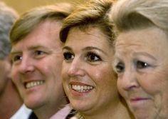Prins Willem Alexander, prinses Maxima en Koningin Beatrix. ANP