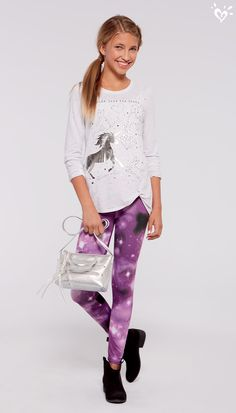 Stardust and unicorns! The wear-and-go outfit we can't wait to try on!