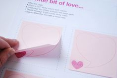 love note templates for 3X3 post-its....so clever!!