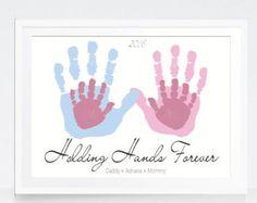 Family Portrait Art Personalized Handprints Custom Home Wall