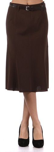 LSALineBelt3811 Knee Length A-Line Skirt with Seaming Detail - Brown / S Sakkas,http://www.amazon.com/dp/B005C4XTQQ/ref=cm_sw_r_pi_dp_mQNfsb0YP724W7YH
