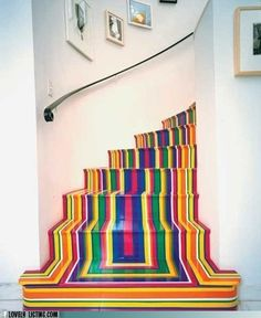 Yes I want my stairs to vomit color