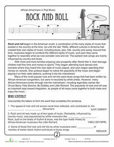 History of Rock 'n' Roll Worksheet